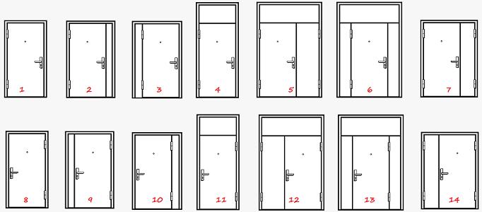 какие бывают противопожарные двери